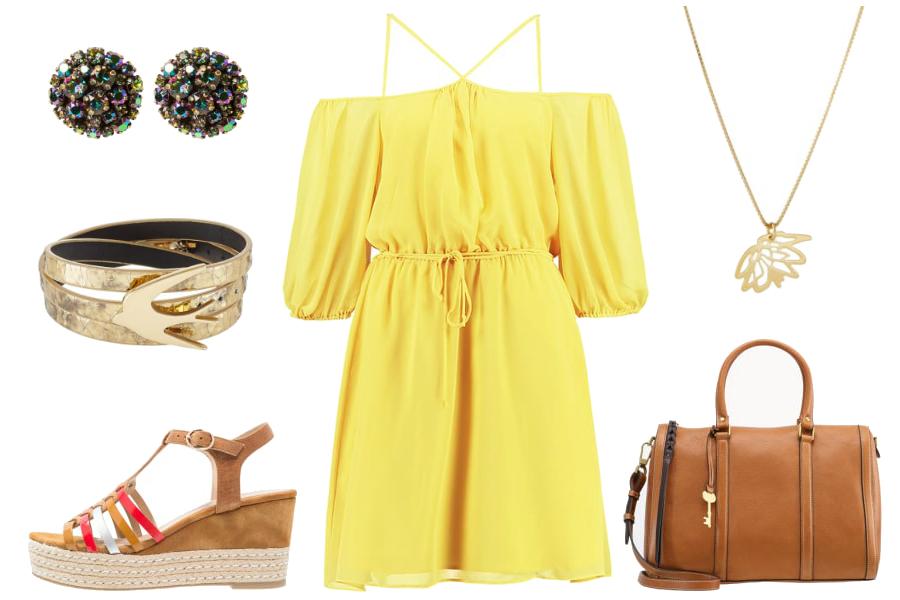 Żółta sukienka / kolaż: mat. partnera
