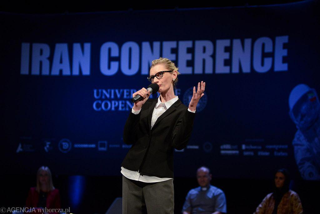 Agata Buzek na próbie 'Irańskiej konferencji' / Fot. MACIEK JAŹWIECKI