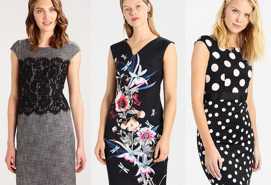 Sukienki z wzorami wyszczuplającymi