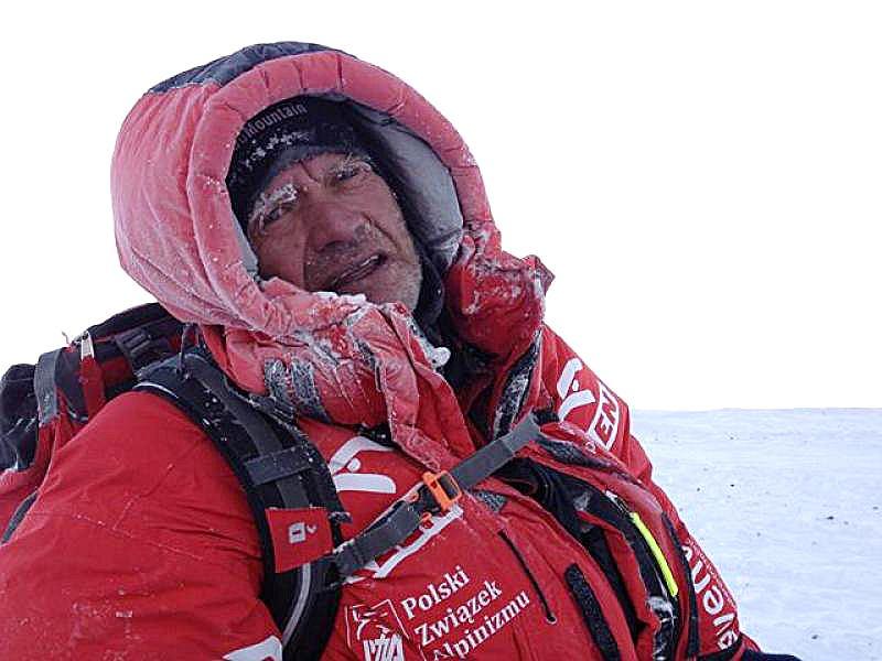 Wyprawa na Broad Peak, 2013 r. Maciej Berbeka, wysokość ok. 7500 m.