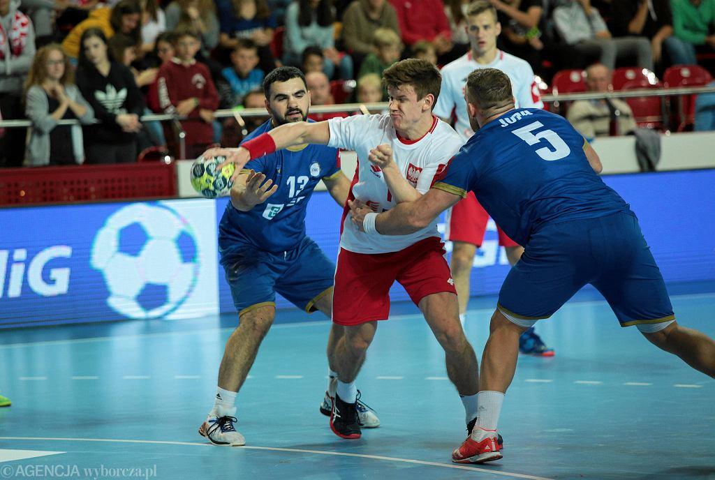 Jan Czuwara podczas meczu Polska - Kosowo w Ostrowcu