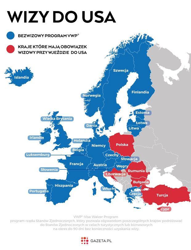 Zielona Karta Usa Jak Wyrobic.Ta Mapa Z Polska Zaznaczona Na Czerwono Jasno Pokazuje Jaki Mamy