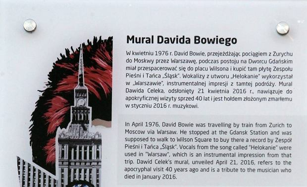 David bowie ma sw j mural na oliborzu ods oni cie w for Mural warszawa 44