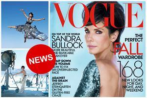 """Zaskoczenie - na ok�adce nowego """"Vogue US"""" znalaz�a si� Sandra Bullock. I do tego w bardzo dziwnej fryzurze. A jak wypad�a w sesji? [ZDJ�CIA]"""