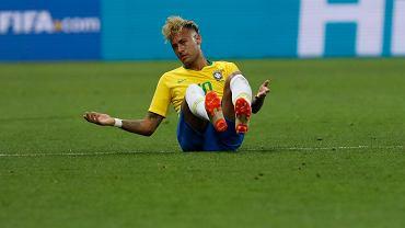 Neymar podczas spotkania reprezentacji Brazylii ze Szwajcarią