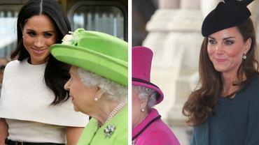 Księżna Kate i Meghan Markle na oficjalnym wyjściu z królową