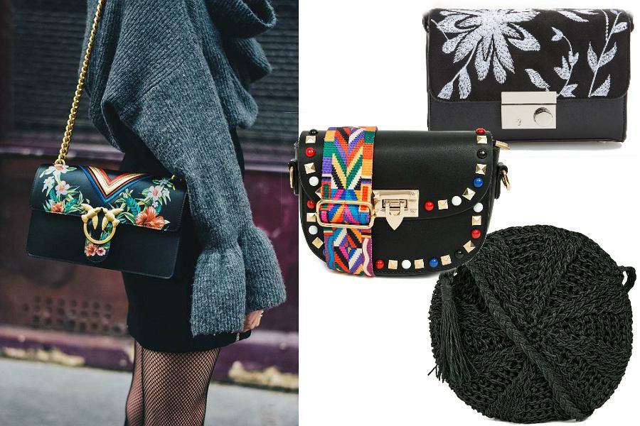 Czarne modne torebki - oryginalne kształty