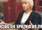 """Minister Bie�kowska o opó�nieniach poci�gów: """"Sorry, taki mamy klimat"""". Internauci zareagowali b�yskawicznie [MEMY]"""