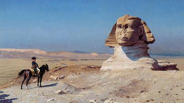 'Napoleon przed Sfinksem' obraz pędzla Jeana-Léona Gérome'a namalowany niemal 100 lat po egipskiej wyprawie generała Bonapartego