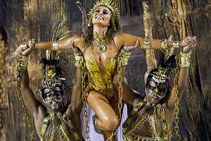 Karnawał w Rio de Janeiro, pokaz samby w wykonaniu popularnej modelki i aktorki Juliany Paes