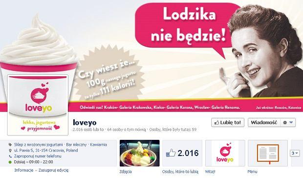 Strona firmy Loveyo na Facebooku. Internauci s� oburzeni has�em