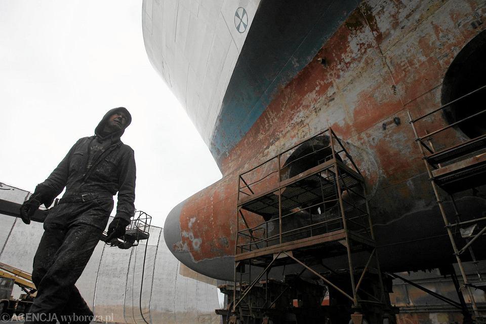 Remont należącego do PŻB promu 'Wawel' w stoczni Gryfia