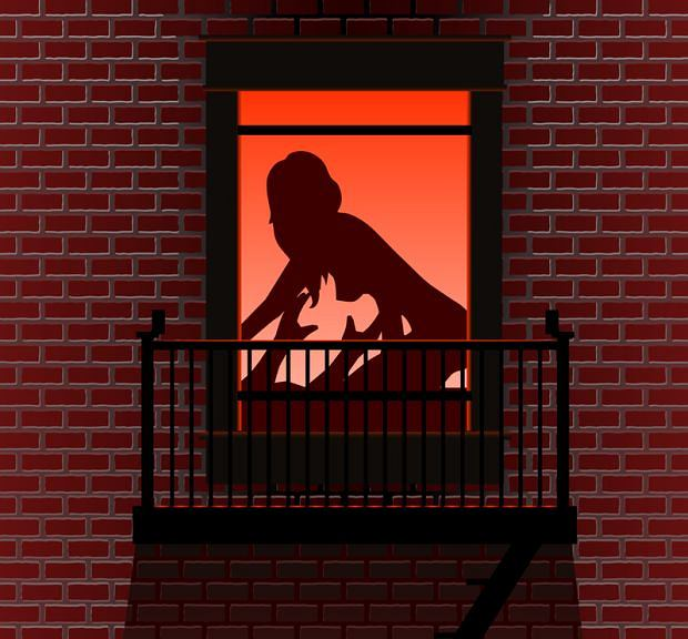 Top 10: seks i śmierć. Najdziwniejsze przypadki, top 10, seks, W Ameryce wszystko jest możliwe, Sandra Orellana chciała wskoczyć na barierkę balkonu, ale zachwiała się i wypadła