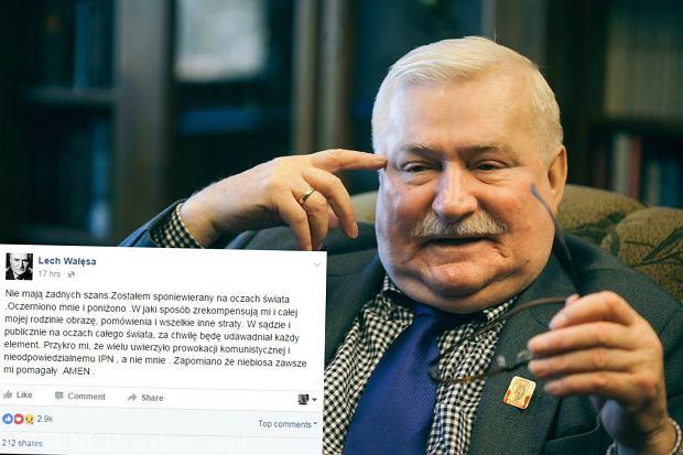 Najnowszy wpis Lecha Wa��sy na Facebooku