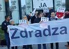 Protest przed siedzibą Sądu Najwyższego w Warszawie. Czekają na nowo powołanych sędziów