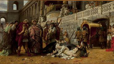 'Dirce chrześcijańska' Henryka Siemiradzkiego (Muzeum Narodowe w Warszawie), obraz ukończony w 1897 r., rok po ukazaniu się 'Quo vadis' Sienkiewicza