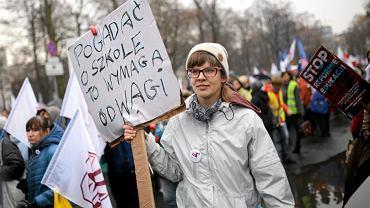 Protest przeciw reformie edukacji