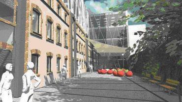 Wizualizacja kamienicy, który w partnerstwie publiczno-prywatnym ma powstać przy ul. Szklarnianej 1 w Sosnowcu