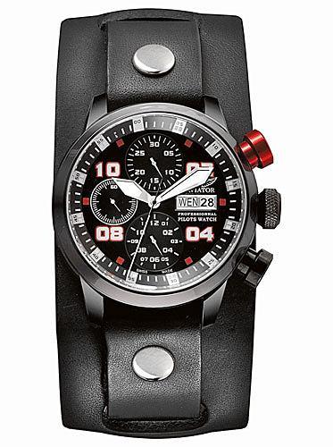 Hit: zegarki dla pilotów, moda męska, zegarki, Aviator professional edition Chronograph. Cena: 7400 zł