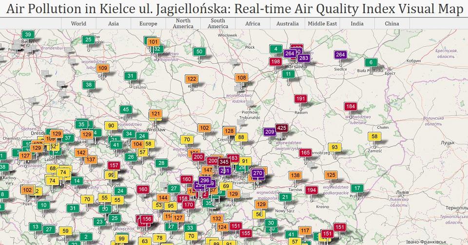 Kielce Są Dziś Najbardziej Zanieczyszczone W Europie Olbrzymi Smog