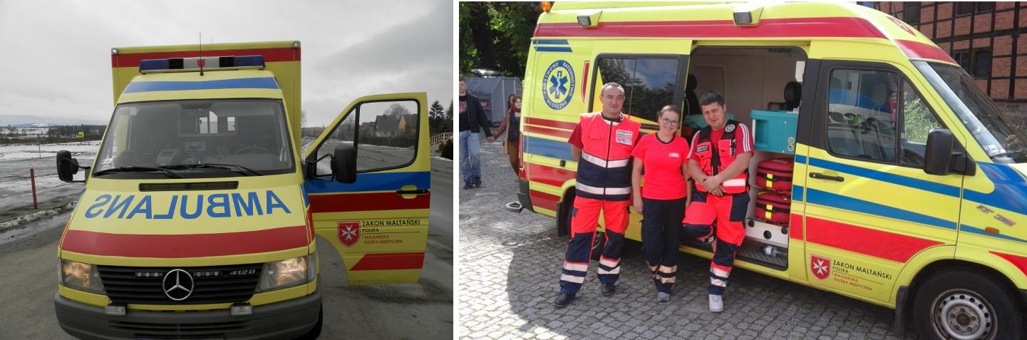 Karetki Maltańskiej Służby Medycznej (fot. materiały prasowe / zakonmaltanski.pl)
