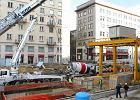 Budowa stacji metra Świętokrzyska