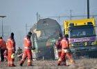 Zderzenie dwóch pociągów w Szwajcarii. Prasa mówi o ok. 50 rannych, policja - o pięciu