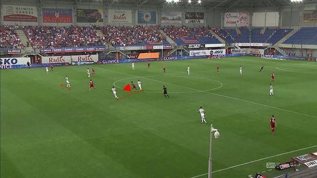 Screen z meczu Piast Gliwice - Zagłębie Lubin