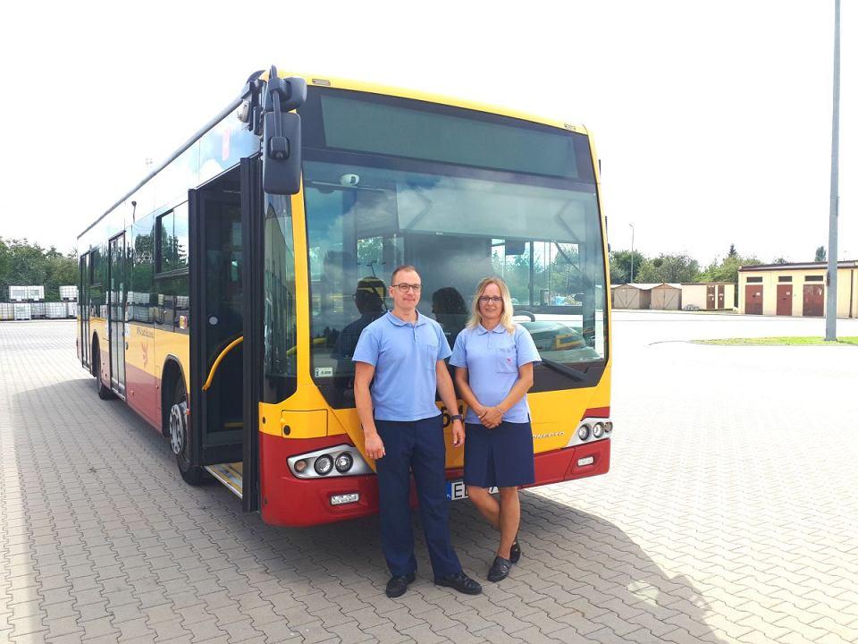 Sebastian Mlonka i Marta Kukulska z MPK Łódź