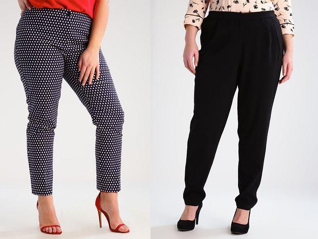 Spodnie materiałowe w rozmiarze XXL [Moda plus size]