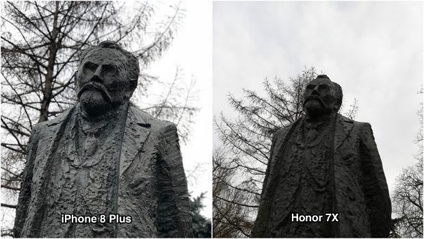 Honor 7X i iPhone 8 Plus - porównanie aparatów w trybie portretowym