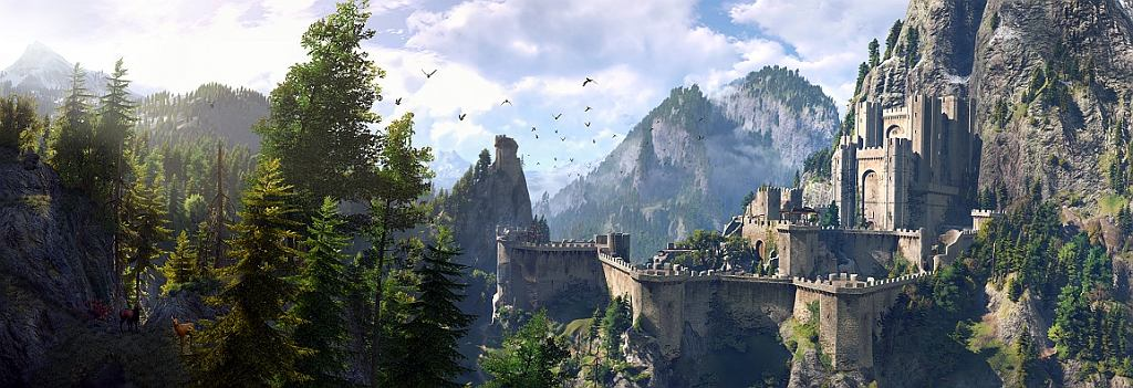 Kaer Morhen, czyli Wiedźmińskie Siedliszcze - zamek wiedźminów (kadr z gry 'Wiedźmin: Dziki Gon' (fot. CDP.pl)