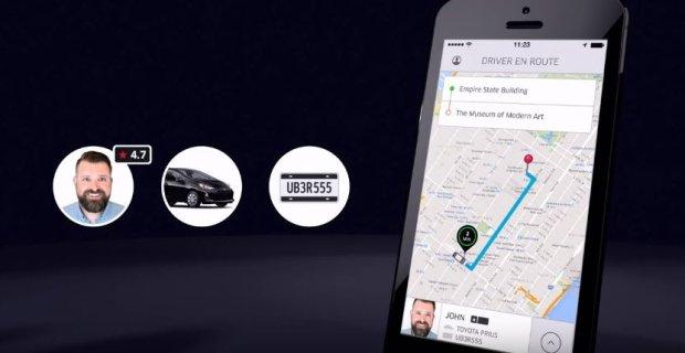 Aplikacja Ubera