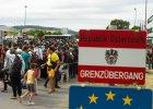 Uchodźcy w okolicach granicy węgierskio-austriackiej