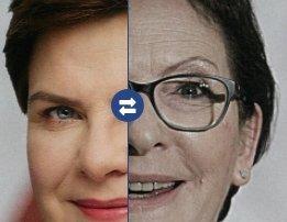 """Jak """"wSieci"""" przedstawia kandydatki na premiera? Wyretuszowana Szydło i """"szara"""" Kopacz"""