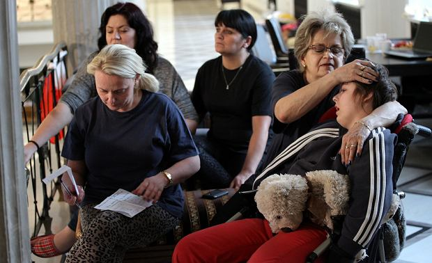 Matki niepe�nosprawnych dzieci w Sejmie