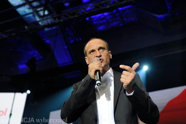 10.05.2015 Lubin . Pawel Kukiz podczas konferencji prasowej po wieczorze wyborczym .  Fot . Kornelia Glowacka-Wolf / Agencja Gazeta