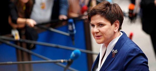 Premier Beata Szydło na szczycie Unii