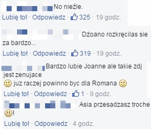 Komentarze fanów Joanny Krupy
