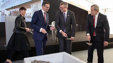 Uroczystość wmurowania aktu erekcyjnego pod budowę Muzeum Historii Polski