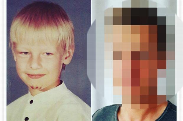Rafał Mroczek w dzieciństwie