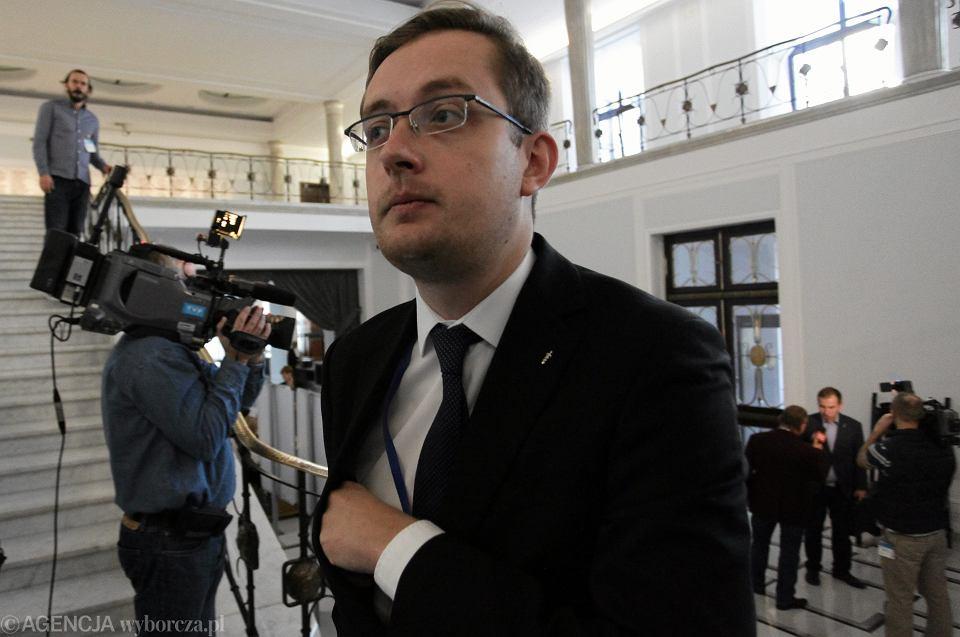 Poseł Robert Winnicki w Sejmie