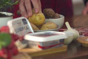 Stek z puree z ziemniaków i topinamburu