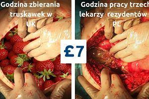 Lekarz w Polsce zarabia mniej ni� zbieracz truskawek w UK? M�odzi lekarze szykuj� protest