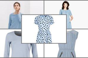 5 naj�adniejszych b��kitnych sukienek z wiosennych kolekcji