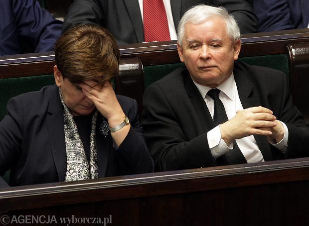 Beata Szydło i Jaroslaw Kaczyński