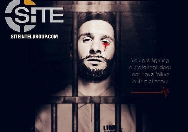 Lionel Messi na plakacie ISIS