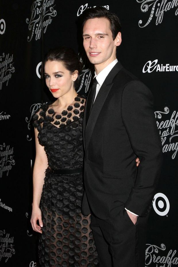 Mandatory Credit: Photo by Greg Allen / Rex Features (2213787d)  Emilia Clarke and Cory Michael Smith  'Breakfast at Tiffany's' play opening night, New York, America - 20 Mar 2013