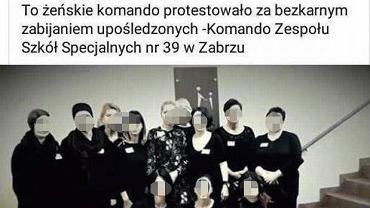 Wpisy nauczyciela z Zabrza na FB