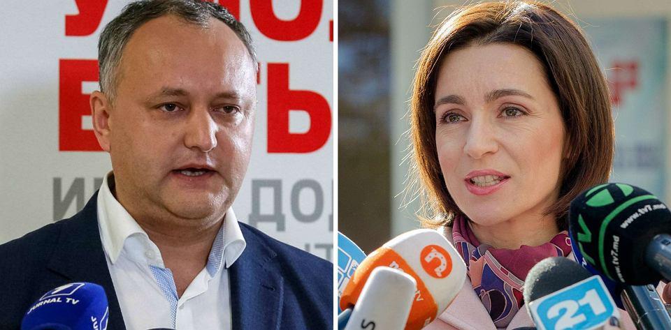 Prokremlowski kandydat Igor Dodon w drugiej turze mołdawskich wyborów prezydenckich zmierzy się z byłą minister edukacji Maią Sandu